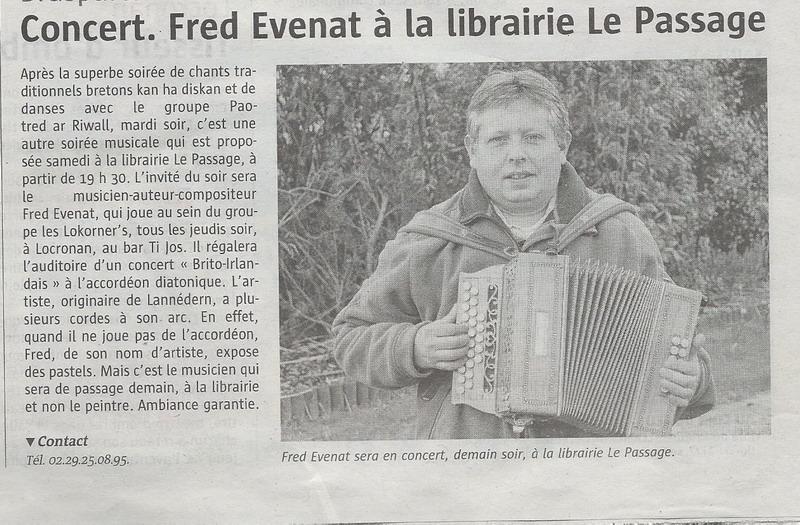"""La librairie """"Le Passage"""" à Brasparts /  samedi 10 décembre 2016 Fred_e10"""