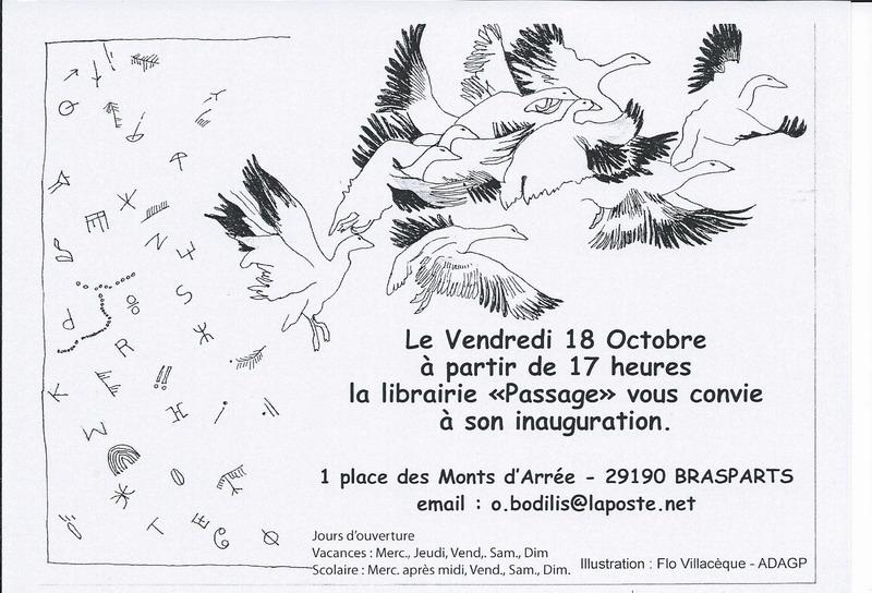 "La librairie ""Le Passage"" à Brasparts /  samedi 10 décembre 2016 Inaugu10"