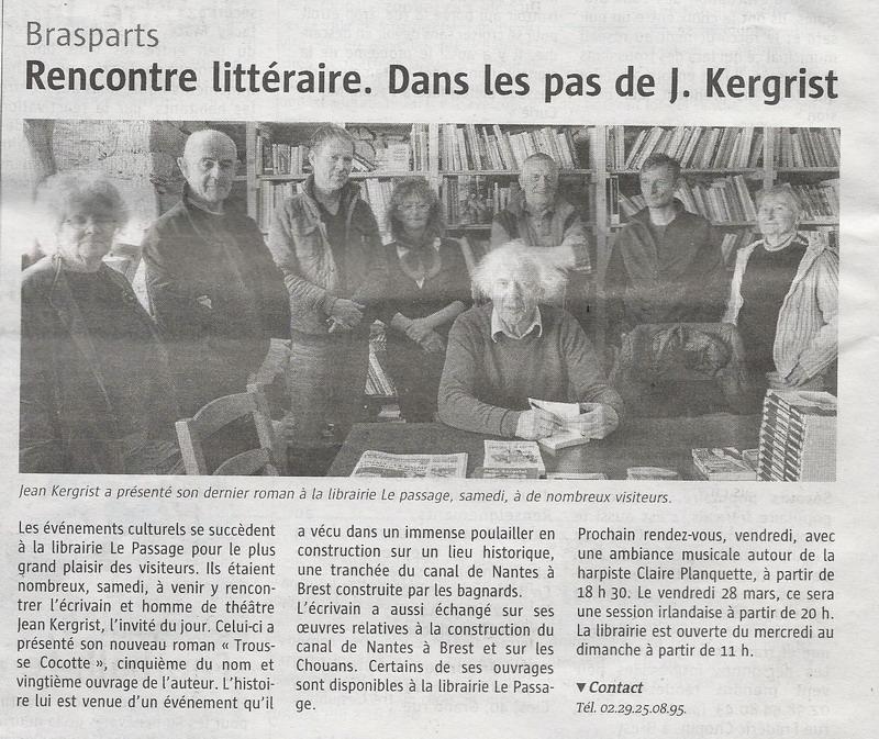 """La librairie """"Le Passage"""" à Brasparts /  samedi 10 décembre 2016 J_kerg11"""