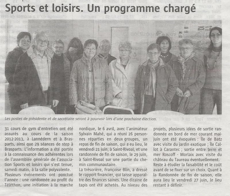 SPORTS ET LOISIRS - Assemblée générale Sports11