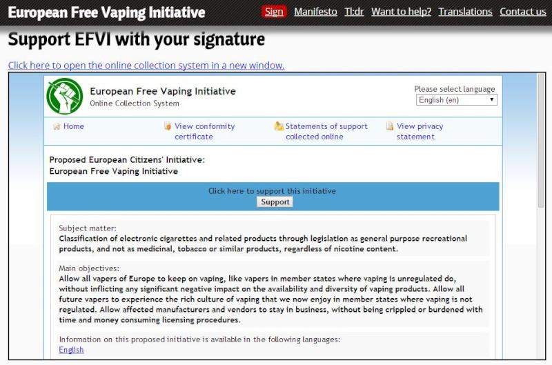 Signez l'Initiative Citoyenne Européenne  ! - EFVI : European Free Vaping Initiative  Signat10