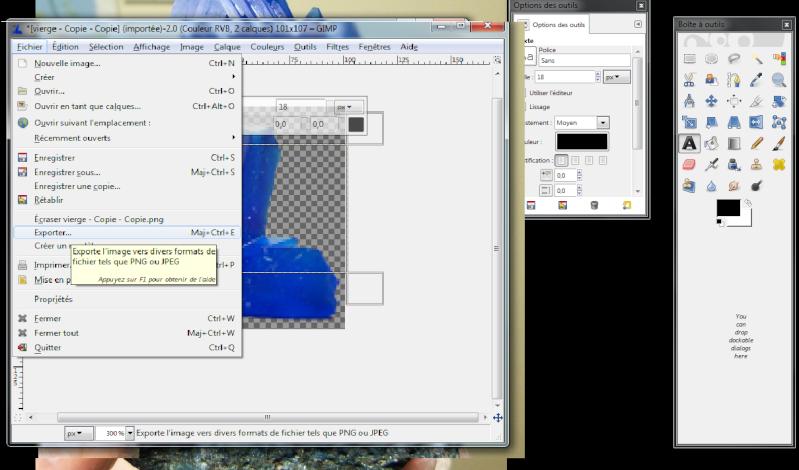 Fabriquer un icône avec une photo avec Gimp Icone910