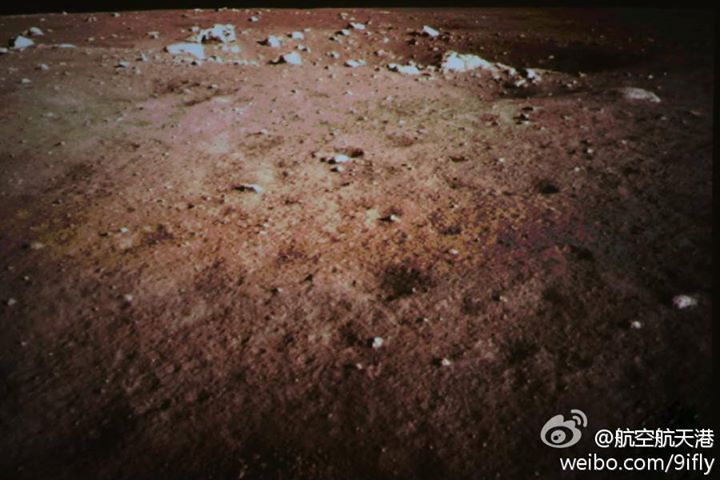 Décollage et alunissage de la sonde lunaire chinoise Chang'e 3 / rover Yutu Crater11