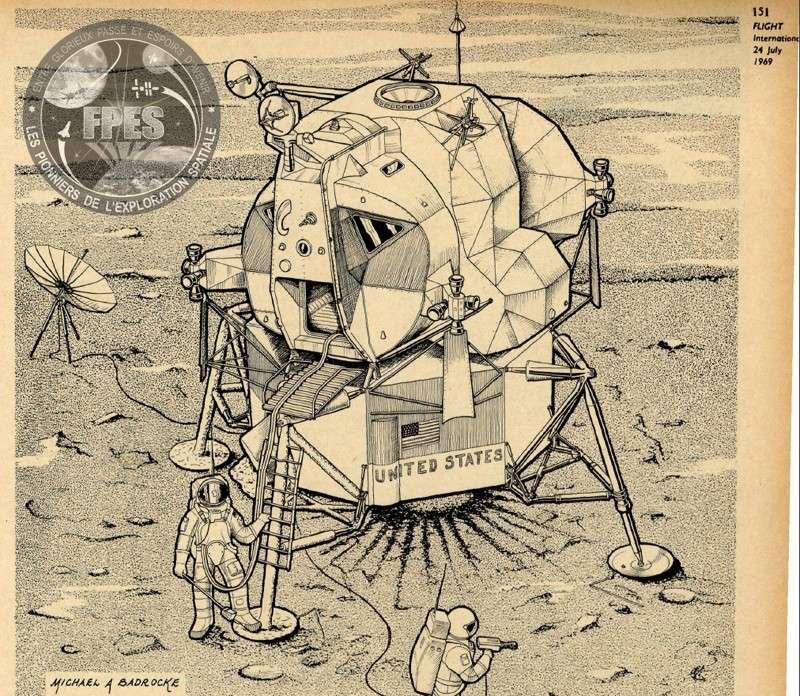 Le module lunaire d'Apollo Lunarm10