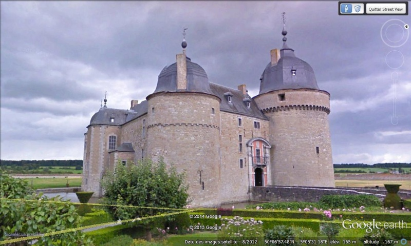 STREET VIEW : les parcs de grands châteaux de Belgique désormais disponibles ! Lavaux10