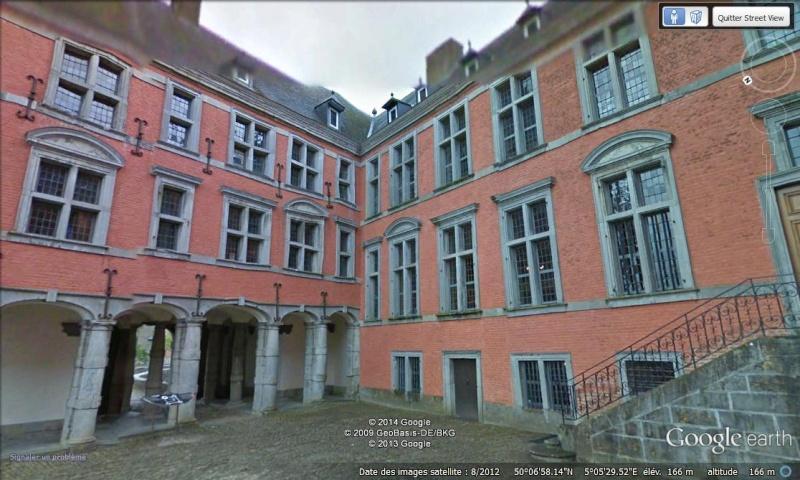 STREET VIEW : les parcs de grands châteaux de Belgique désormais disponibles ! Lavaux11