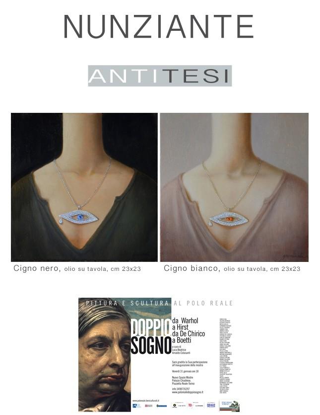 NUNZIANTE alla mostra DOPPIO SOGNO - da Warhol a Hirst da De Chirico a Boetti 28011410