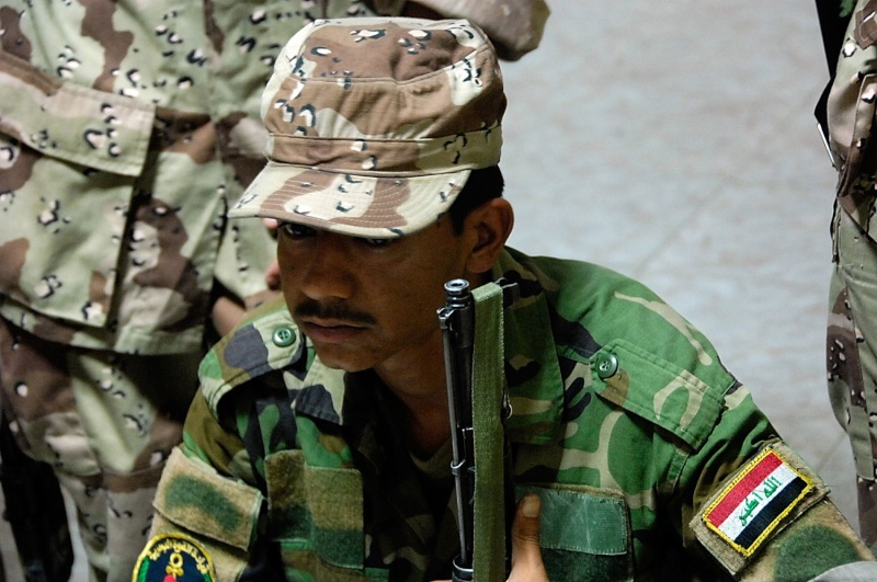 Patches worn by New Iraq Army. 43165210