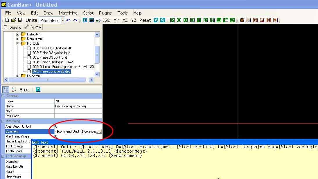 Cambam, CutViewer et gestion d'outils Cv_too10