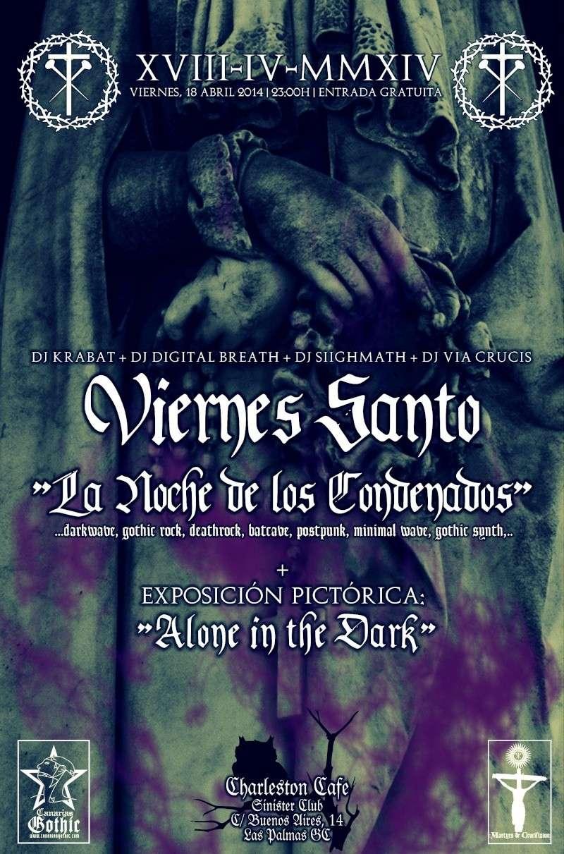 """VIERNES SANTO: """"La Noche de los Condenados"""" (Dark & Gothic Party) @ Charleston Café Vierne10"""