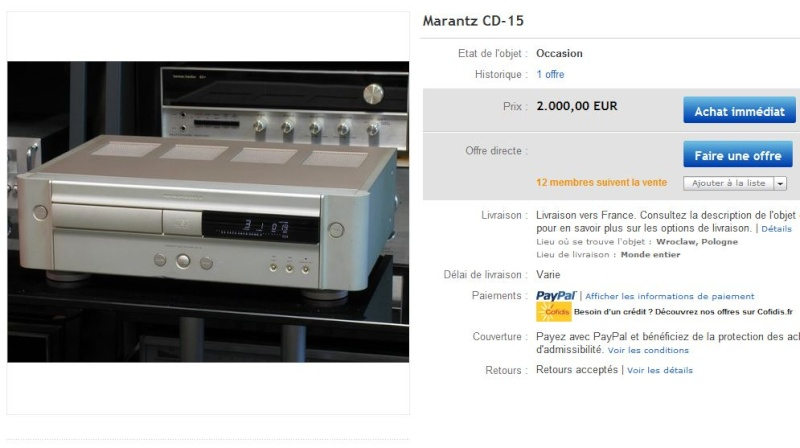 Marantz Pm15 version 1994 Cd-1510