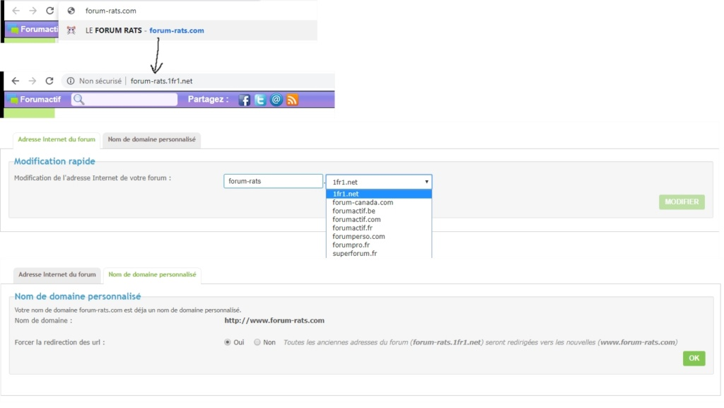 """Nom de domaine """"écrasé"""" par l'adresse d'origine du forum Forum_10"""