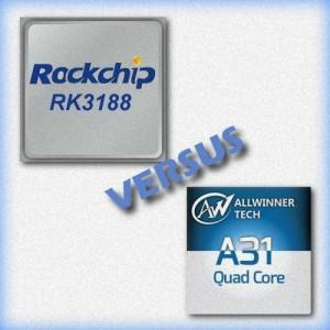 Quad Core Rockchip RK3188 VS Allwinner A31 Rk318810