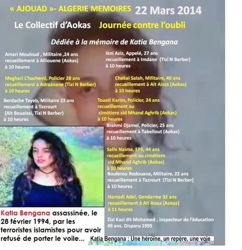 """Le collectif d'Aokas- """"Ajouad"""" Algerie Memoires: 22 mars 2014, journée contre l'oubli Ajouad11"""