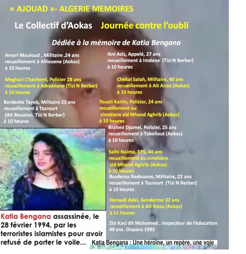"""Le collectif d'Aokas- """"Ajouad"""" Algerie Memoires: 22 mars 2014, journée contre l'oubli Bengan11"""