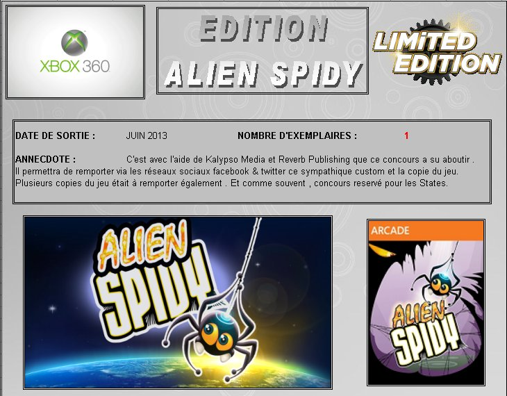 XBOX 360 : Edition ALIEN SPIDY Alien_10