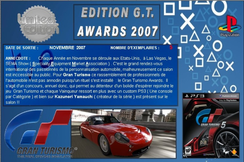 PLAYSTATION 3 : Edition GT AWARDS 2007   Gt_20010