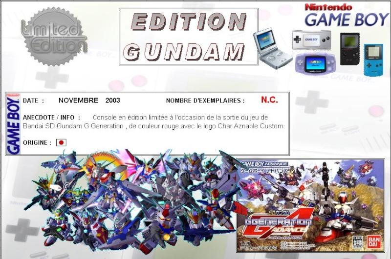 GAMEBOY ADVANCE SP : Edition GUNDAM Gundam10
