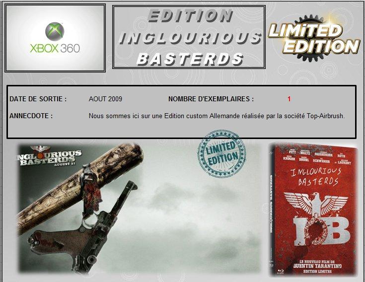 XBOX 360 : Edition INGLOUROIUS BASTERDS   Inglou10