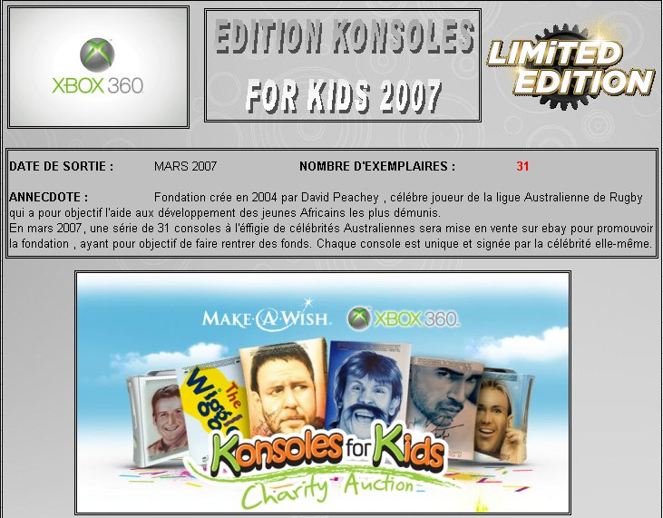 XBOX 360 : Edition KONSOLES FOR KIDS 2007 K_for_10