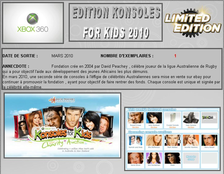 XBOX 360 : Edition KONSOLES FOR KIDS 2010 K_for_24