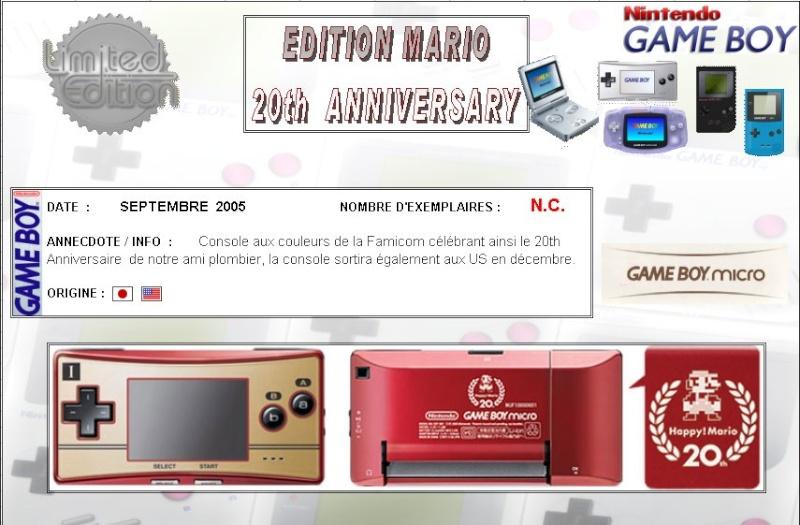 GAMEBOY ADVANCE MICRO : Edition MARIO 20th ANNIVERSARY Mario210