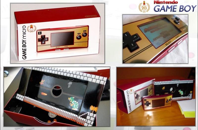 GAMEBOY ADVANCE MICRO : Edition MARIO 20th ANNIVERSARY Mario211