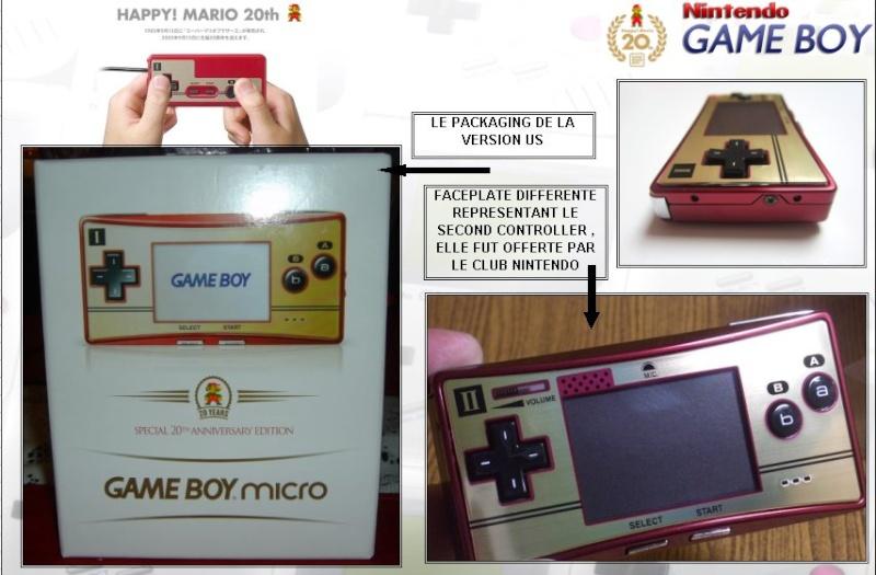 GAMEBOY ADVANCE MICRO : Edition MARIO 20th ANNIVERSARY Mario213