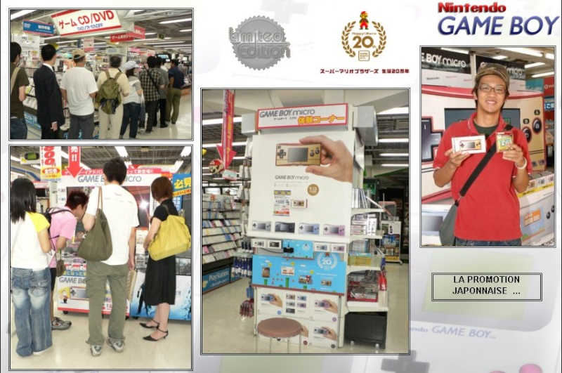 GAMEBOY ADVANCE MICRO : Edition MARIO 20th ANNIVERSARY Mario214