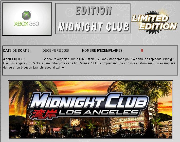 XBOX 360 : Edition MIDNIGHT CLUB Midnig10