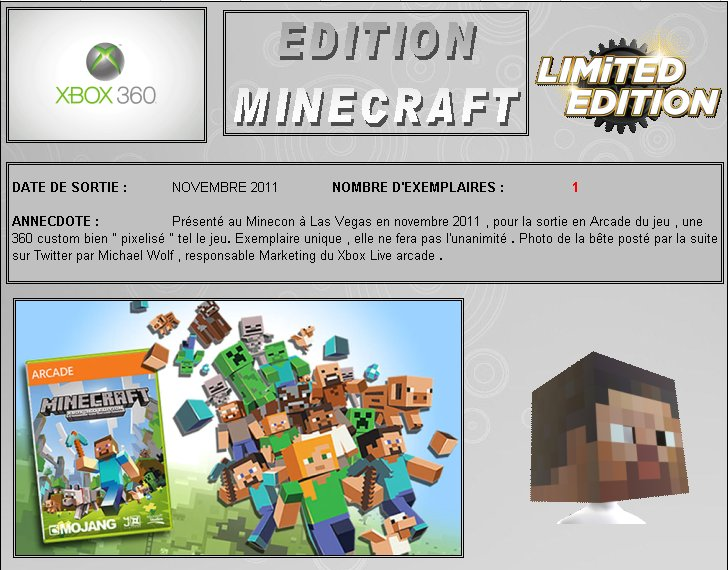 XBOX 360 : Edition MINECRAFT Minecr10