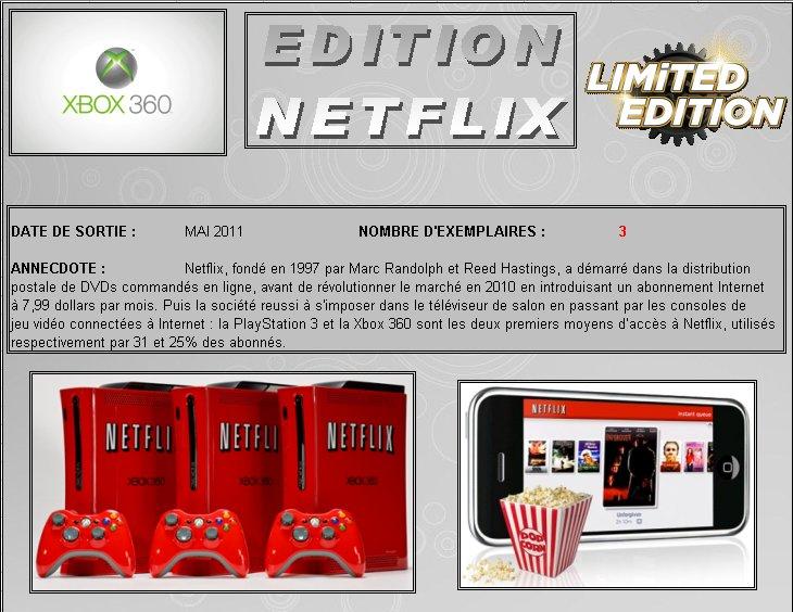 XBOX 360 : Edition NETFLIX Netfli10