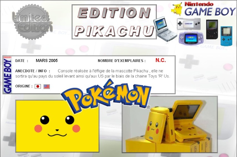 GAMEBOY ADVANCE SP: Edition POKEMON PIKAHCU Poke_p10