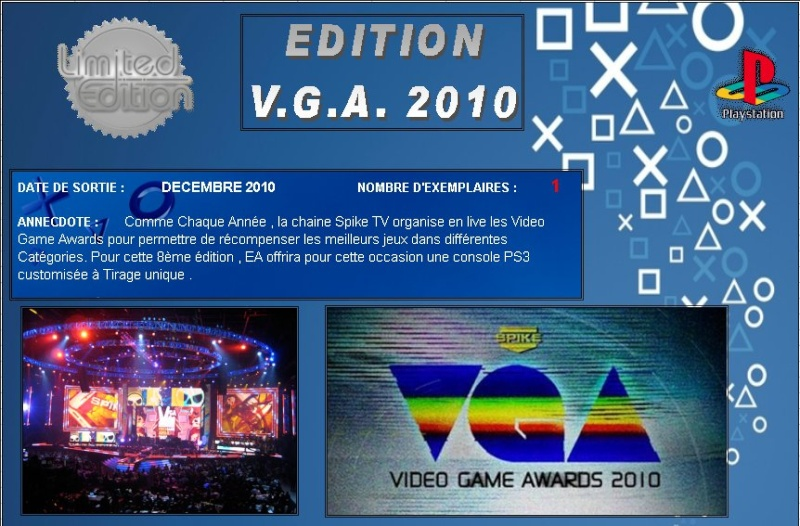 PLAYSTATION 3 : Edition VIDEO GAME AWARDS 2010 Vga20110