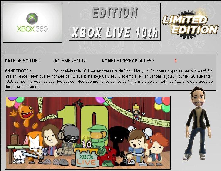 XBOX 360 : Edition XBOX LIVE 10th Xblive10