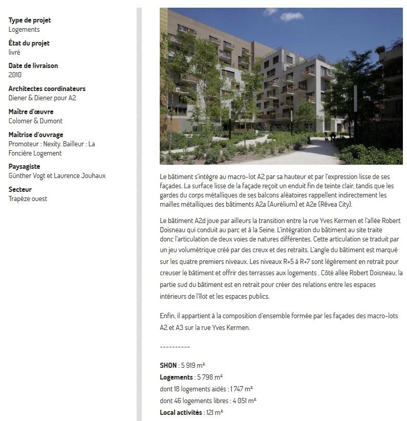 Informations sur l'immeuble A2d  A2d10