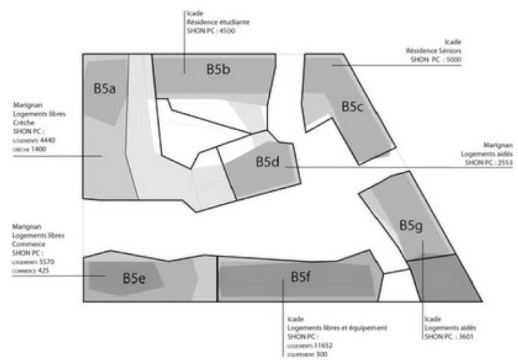 Plan du trapèze / nom des résidences et des rues B510