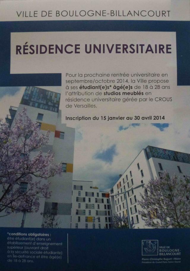 Informations sur la résidence étudiante Simone Weil  P1160031