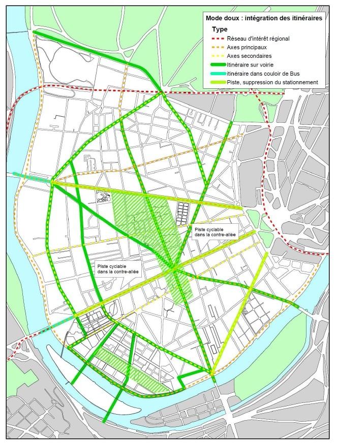 Carte des pistes cyclables Pists_10