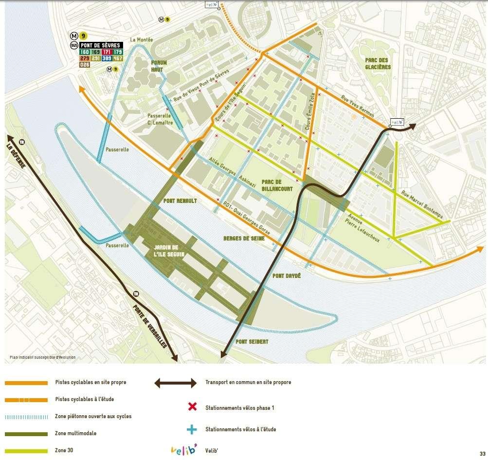 Carte des pistes cyclables Plan_d10