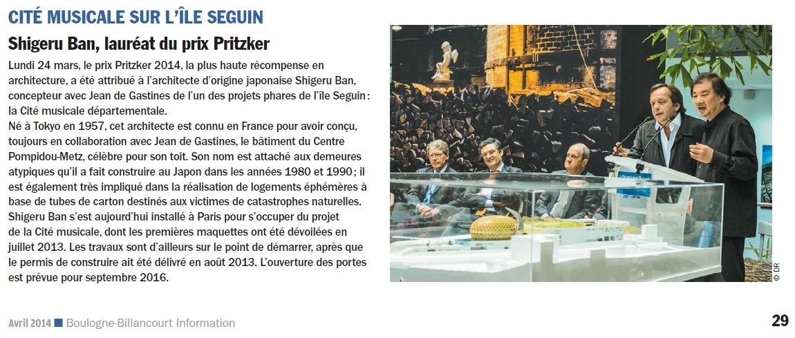 La Seine Musicale de l'île Seguin - Page 13 Prix_p12