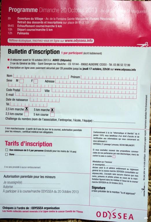 20 octobre Auxerre 2.5 ou 5km contre le cancer du sein. Dsc04513