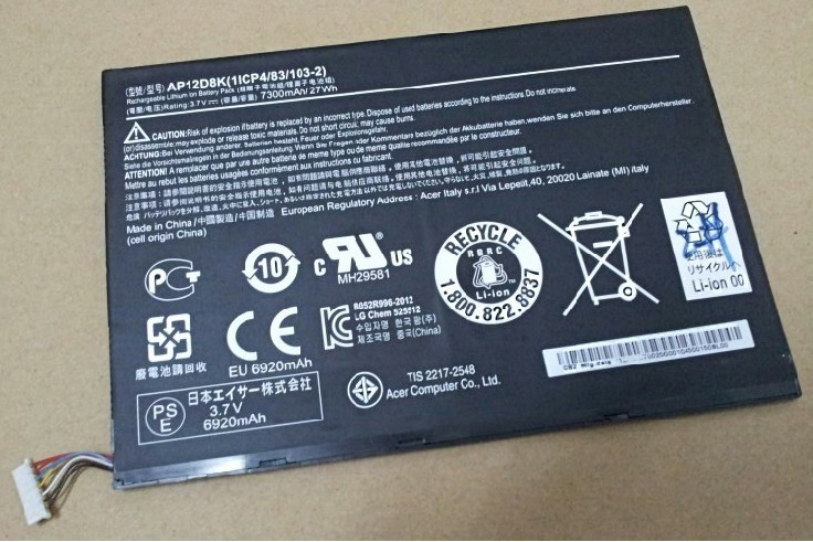 Acer  Iconia W510 Battery AP12D8K DR-A510P Dr-a5110