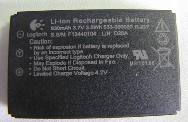Logitech DiNovo Mini Keyboard Battery F12440104 Ig710