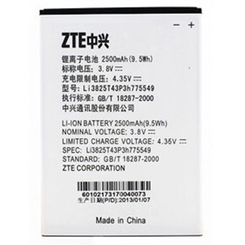 ZTE Vital N9810 Battery LI3825T43P3H775549 ML-ZT013 Ml-zt010