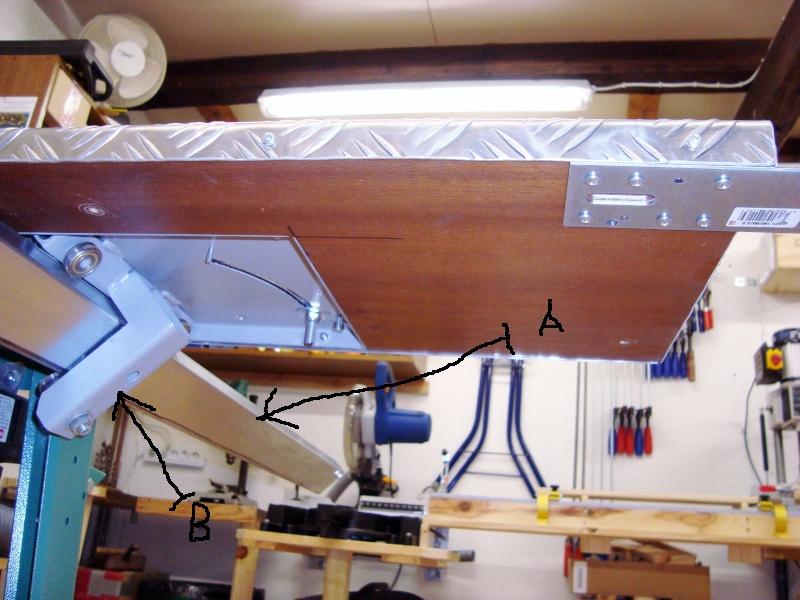 Photos detaillées du bras articulé/chariot/guide parallèle de ma scie circulaire kity 415 Atelie11