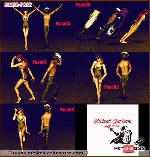 Танцевальные позы Mtsims12