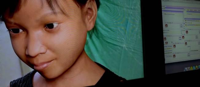 Une fillette virtuelle pour piéger les pédophiles Sipa-a10