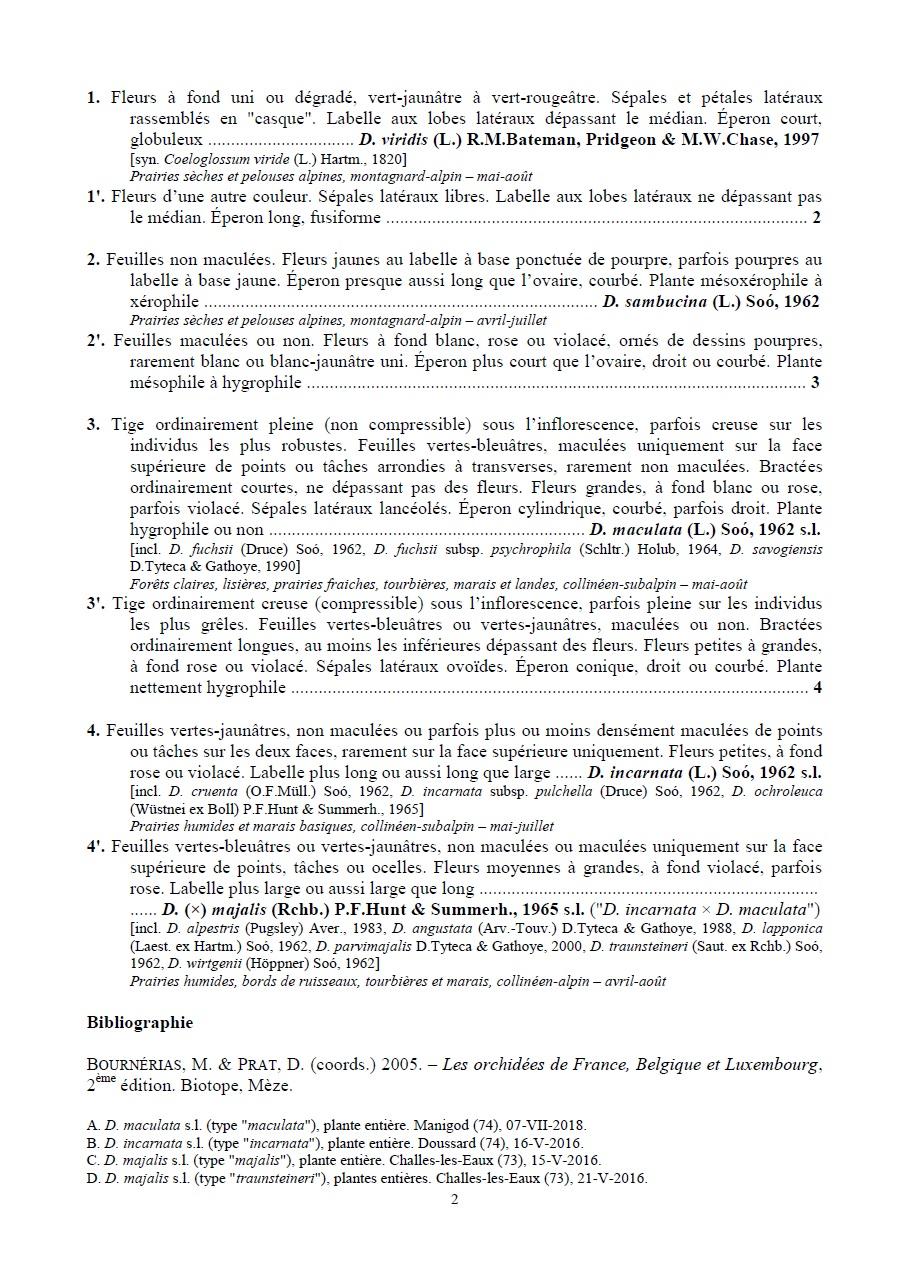 Essai de clé de détermination des Dactylorhiza des Alpes 211