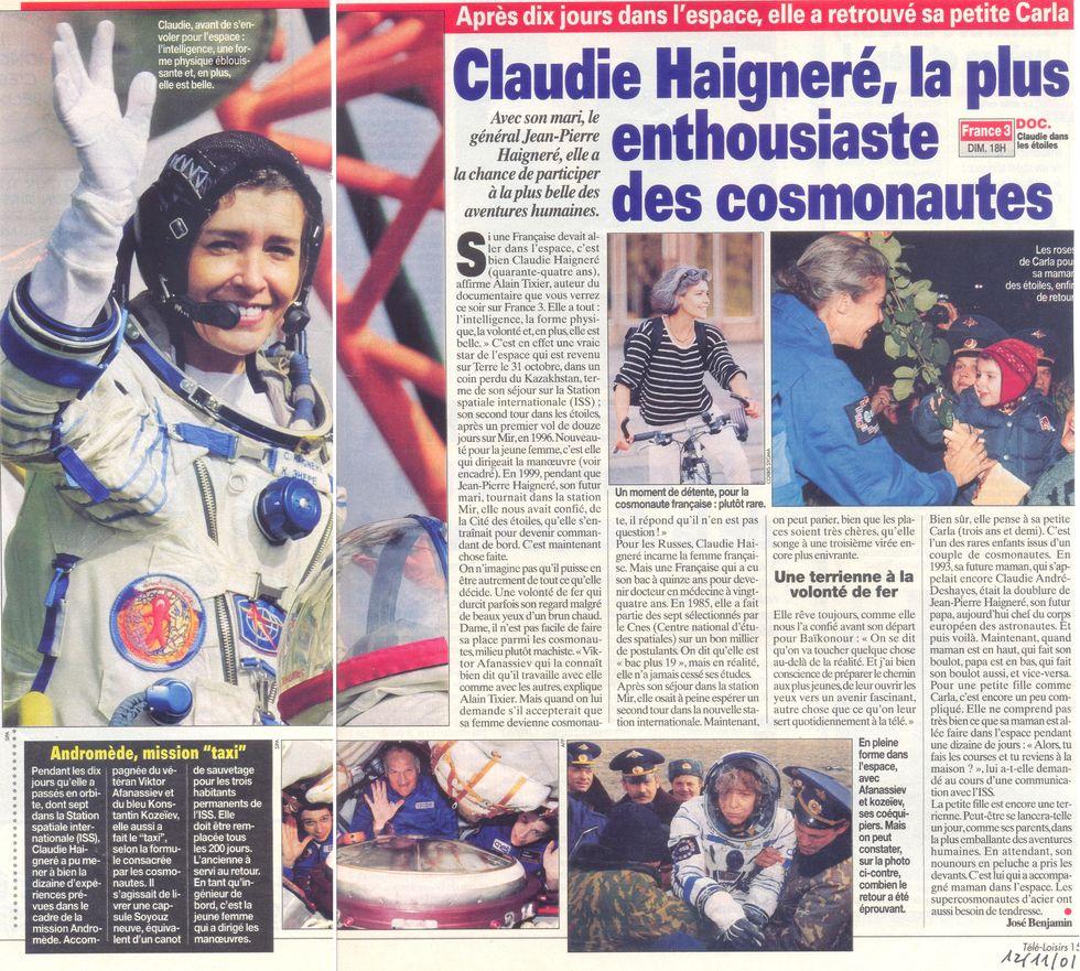 Claudie Haigneré - 1ère Française dans l'espace - Page 2 01111210